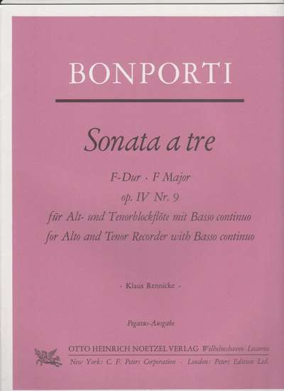 photo of Sonata a tre, F major, Op. IV, Nr. 9