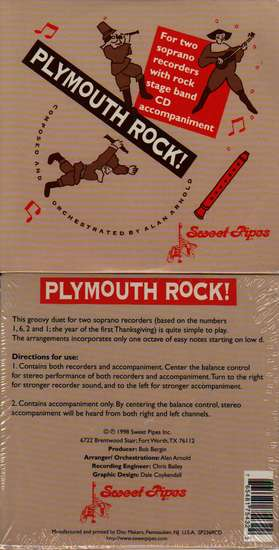 photo of Plymouth Rock for 2 soprano recorders and stage band CD acc. CD
