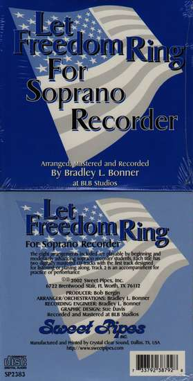 photo of Let Freedom Ring, 8 Arrangements of Patriotic Songs, CD