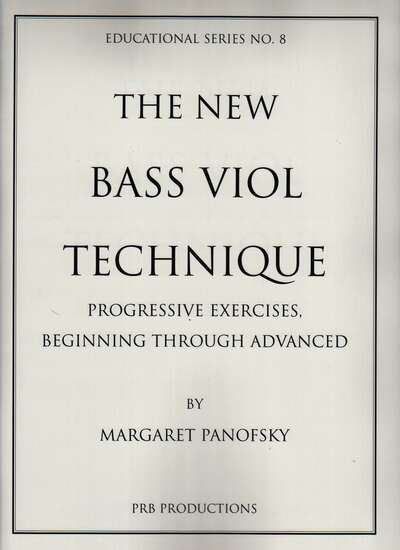 photo of The New Bass Viol Technique, Progressive Exercises Beginning through Advanced