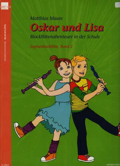 photo of Oskar und Lisa, Recorder Adventure in School, Book 2, Soprano, Student book