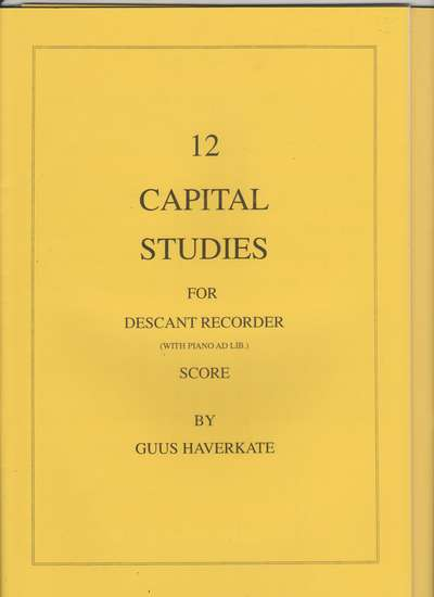 photo of 12 Capital Studies for soprano with piano ad lib.