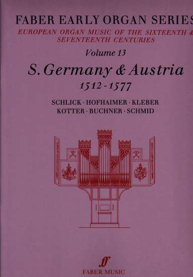 photo of European Organ Music of 16th and 17th cent, Vol 13, S. Germany and Austria