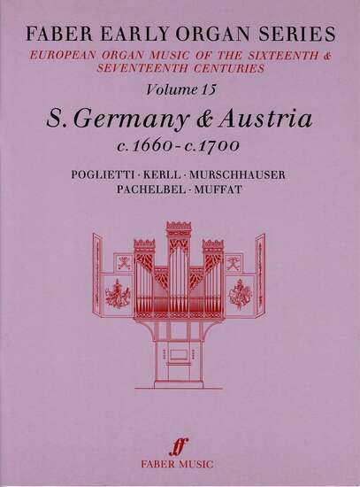 photo of European Organ Music of 16th and 17th cent, Vol 15, S. Germany and Austria