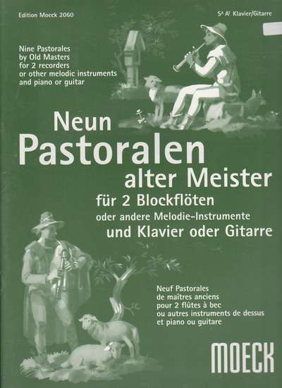 photo of Nine Pastoralen by old masters, Handel, Vivaldi, Locatelli, Giardini, and others