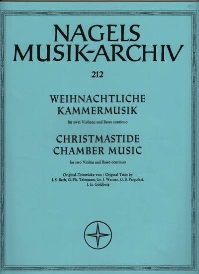 photo of Christmastide Chamber Music: Bach, Telemann, Werner, Pergolesi
