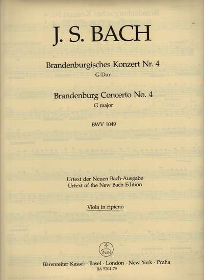photo of Brandenburg Concerto No. 4 G major, BWV 1049, Viola, Urtext