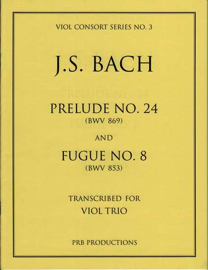 photo of Prelude No. 24 (BWV 869) and Fugue No. 8 (BWV 853)