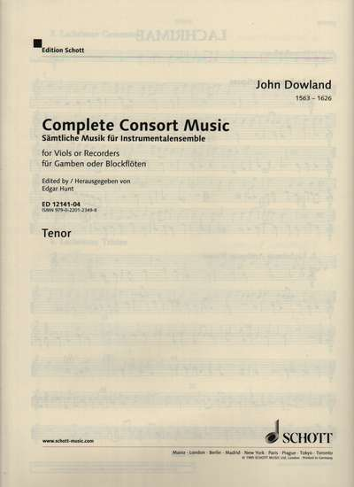 photo of Complete Consort Music, Tenor