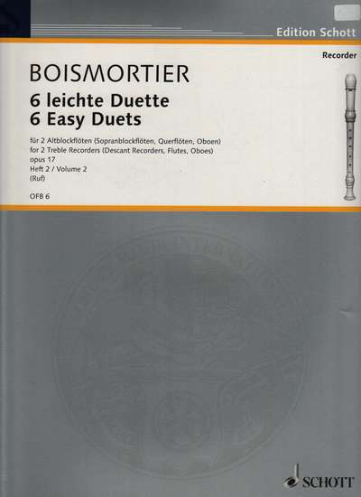 photo of Six East Duets for 2 Altos, Op. 17, Vol. 2