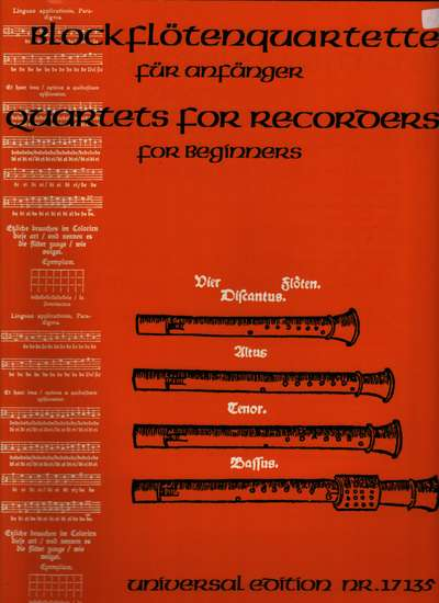 photo of Quartets for Recorders for Beginners