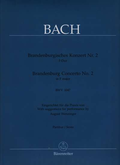 photo of Brandenburg Concerto No. 2, BWV 1047 score