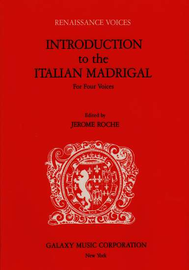 photo of Introduction to the Italian Madrigal for Four Voices