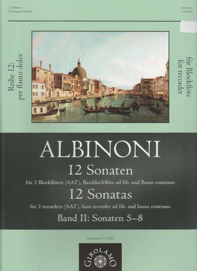 photo of 12 Sonaten, Band I: Sonatas 5-8