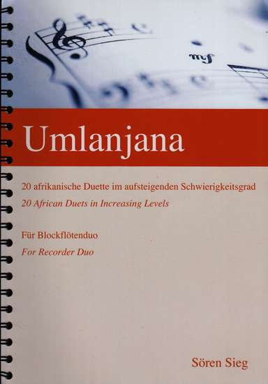 photo of Umlanjana, 20 duets for various recorders