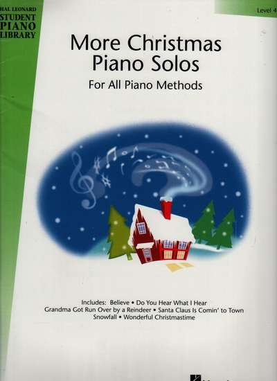 photo of More Christmas Piano Solos, Level 4