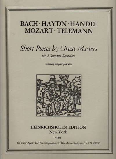 photo of Short Pieces by Great Masters; Bach, Haydn, Handel, Mozart, Telemann