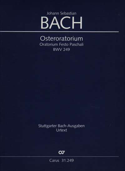 photo of Easter Oratorio, BWV 249, full score, paper cover
