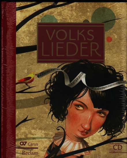 photo of Volks Lieder, 77 songs, cloth cover, with CD