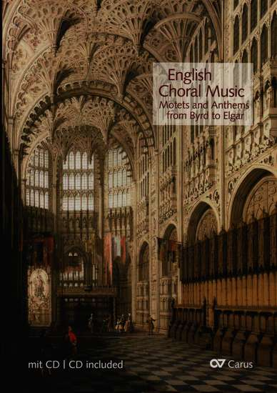 photo of English Choral Music, Motets and Anthems from Byrd to Elgar, with CD