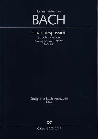 photo of Johannespassion, BWV 245, Version II vocal score, paper cover