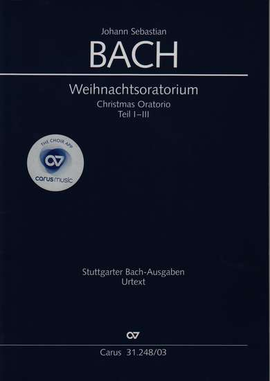 photo of Christmas Oratorio, BWV 248, Cantatas I-III vocal score, incl. English, paper