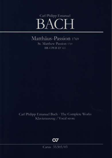 photo of St. Matthew Passion 1769, vocal score, paper
