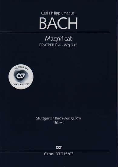 photo of Magnificat, Wq 215, BR-CPEB E4, vocal score, paper