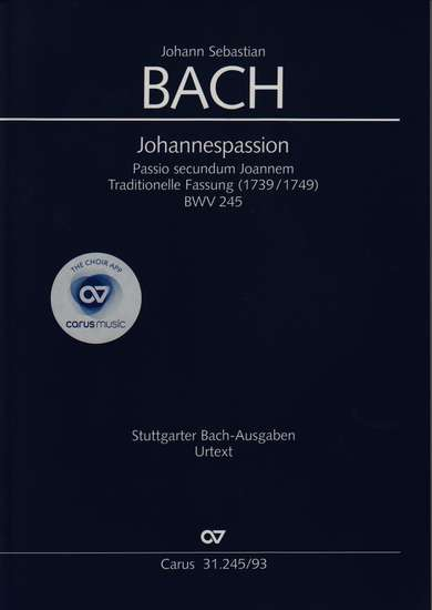 photo of Johannespassion, BWV 245, Traditional Version, vocal score, paper