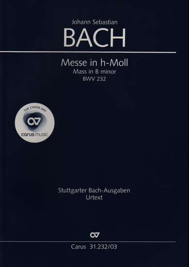 photo of Mass in B minor, BWV 232, vocal score, paper