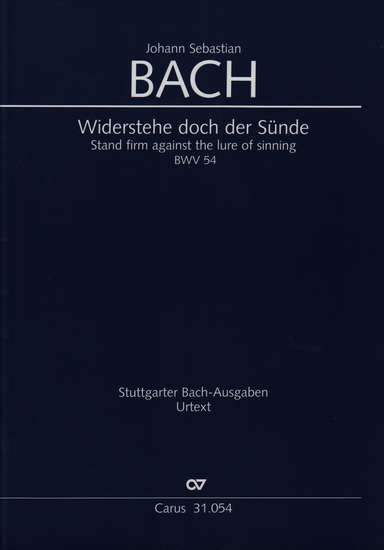 photo of Widerstehe doch der Sunde, BWV 54, full score
