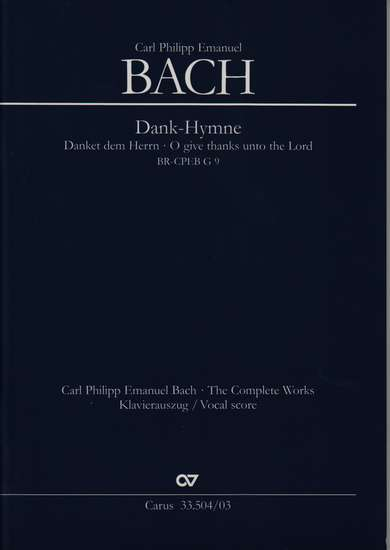 photo of Works for Special Occasions I, Dank-Hymne, Vocal score