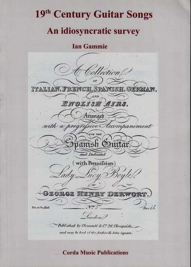 photo of 19th Century Guitar Songs, An idiosyncratic survey, with facsimile