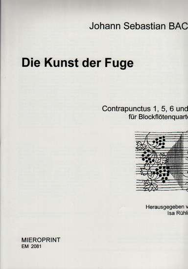 photo of Die Kunst der Fuge, Contrapunctus 1, 5, 6, and 7