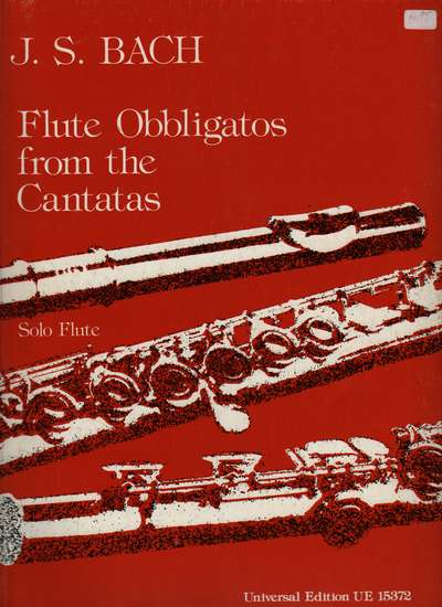 photo of Flute Obligatos from the Cantatas