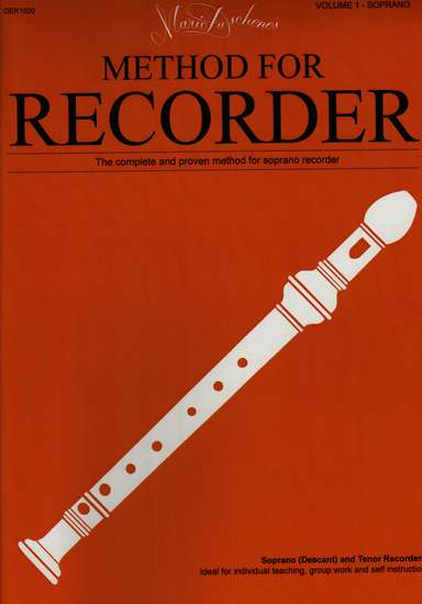 photo of Method for the Recorder, Part One, Soprano, Tenor