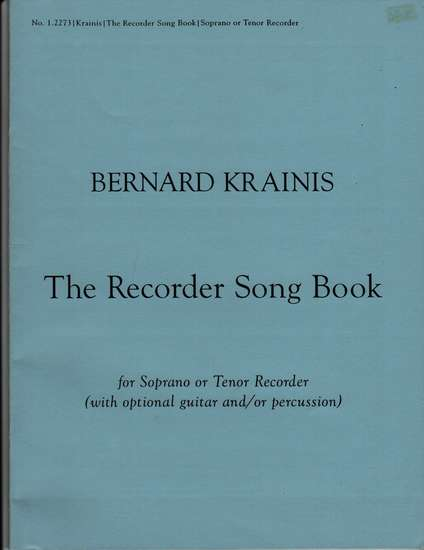 photo of The Recorder Song Book