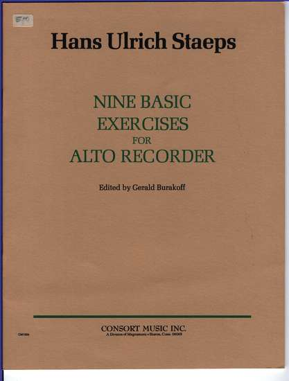photo of Nine Basic Exercises for the Alto Recorder