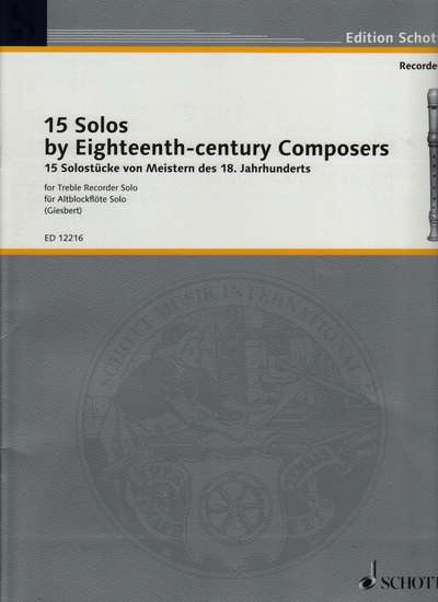 photo of Fifteen Solos by 18th Century Composers