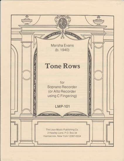 photo of Tone Rows