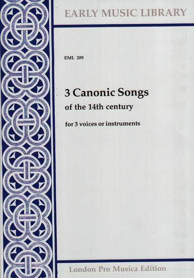 photo of 3 Canonic Songs of the 14th Century