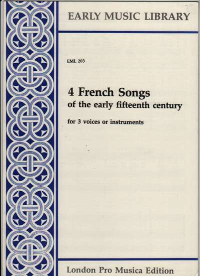 photo of 4 French Songs of the early fifteenth century