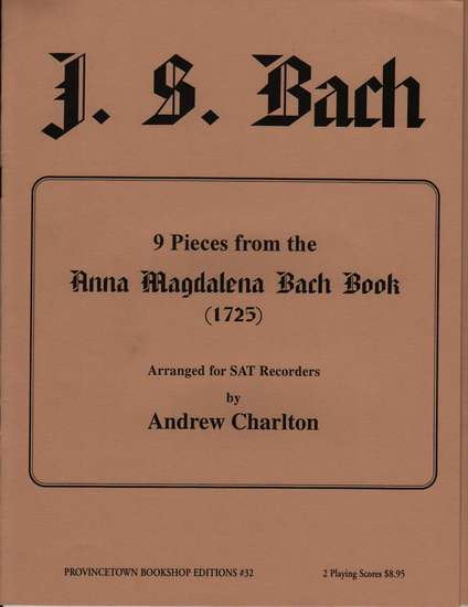 photo of 9 Pieces from the Anna Magdalena Bach Book