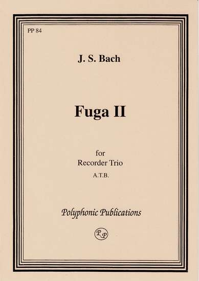 photo of Fuga II, from The Well Tempered Clavier, Vol. 1
