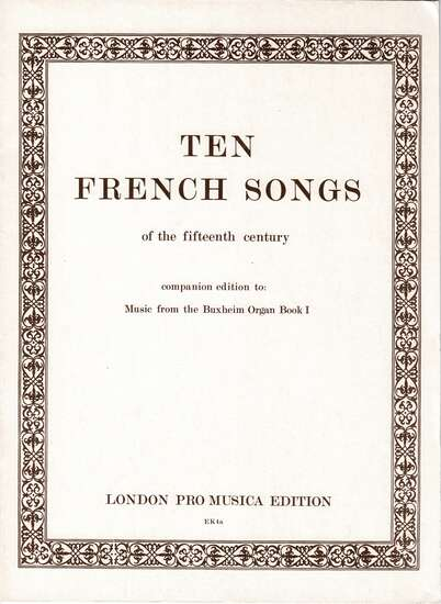 photo of Ten French Songs of the 15th Century
