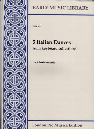 photo of 5 Italian Dances from keyboard collections