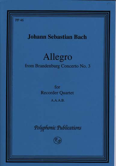 photo of Allegro, from Brandenburg Concerto No. 3