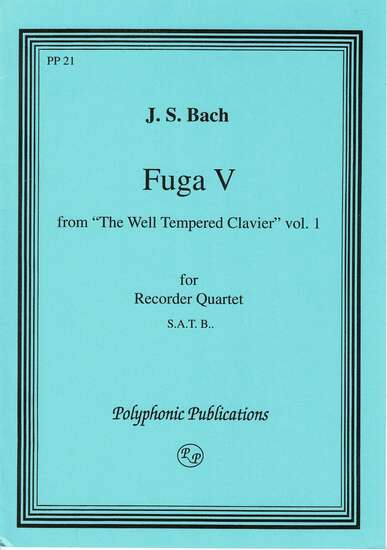 photo of Fuga V, from The Well-Tempered Clavier, Vol. I