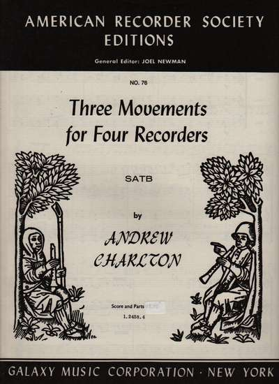 photo of 3 Movements for 4 Recorders