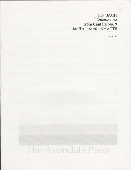 photo of Canonic Aria  from Cantata 9
